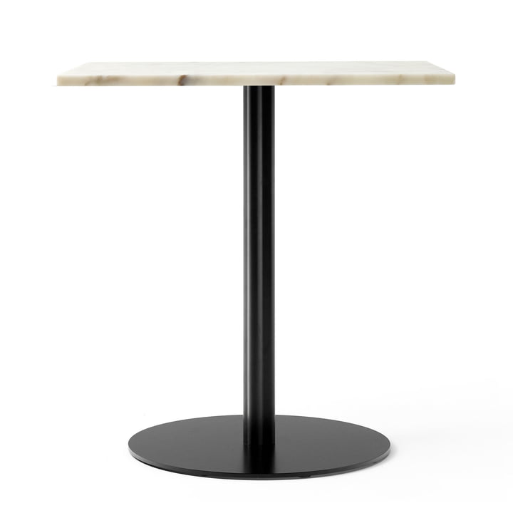 Harbour Column bistro table 70 x 60 cm in marble white / black from Menu