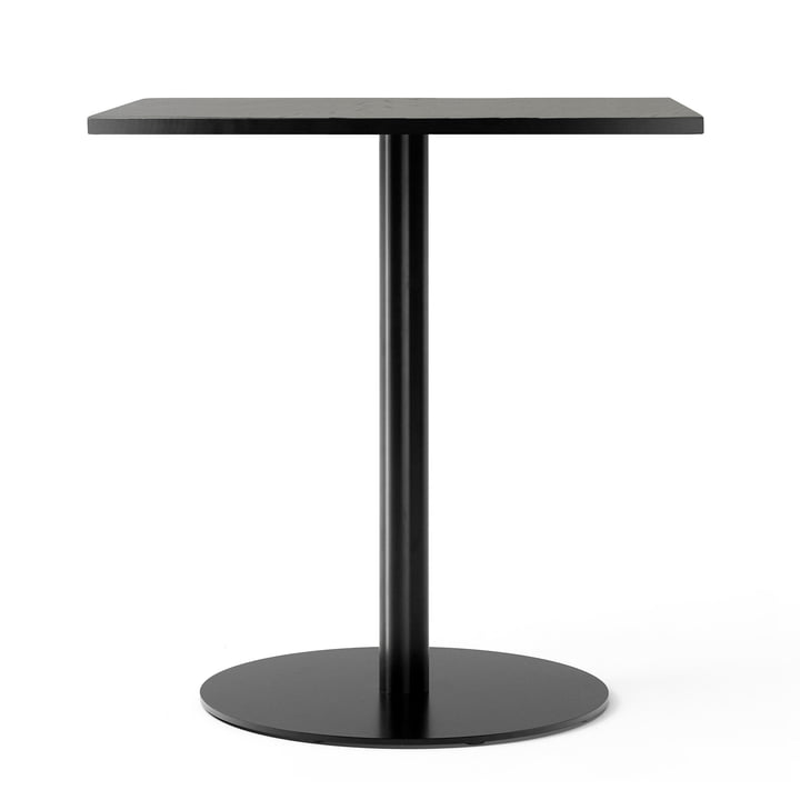 Harbour Column bistro table 70 x 60 cm in oak black lacquered by Menu