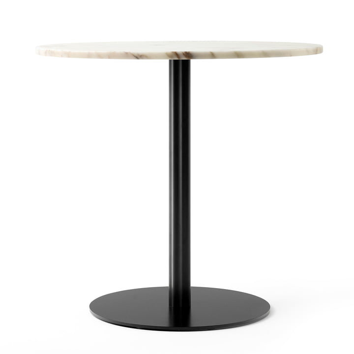 Harbour Column bistro table Ø 80 cm in marble white / black from Menu