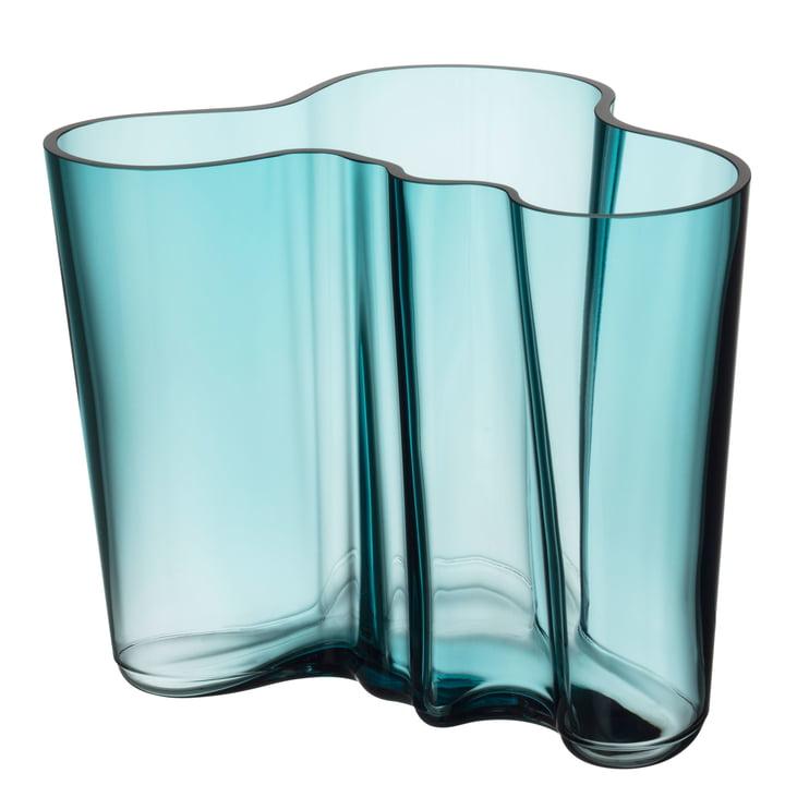Aalto Vase Savoy 160 mm from Iittala in sea blue