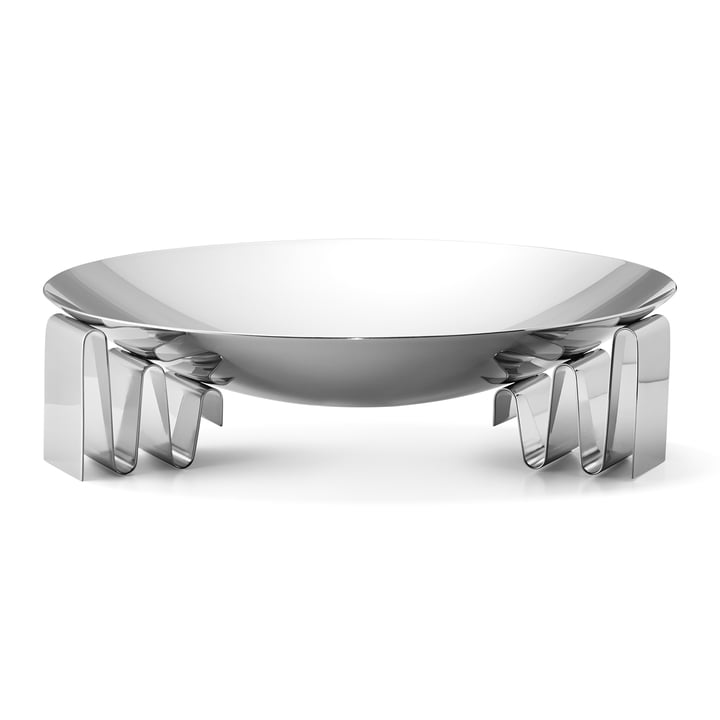 Frequency bowl large in stainless steel polished by Georg Jensen