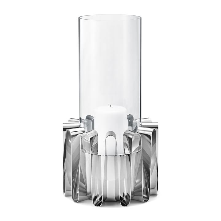 Frequency Hurricane Lantern in large by Georg Jensen