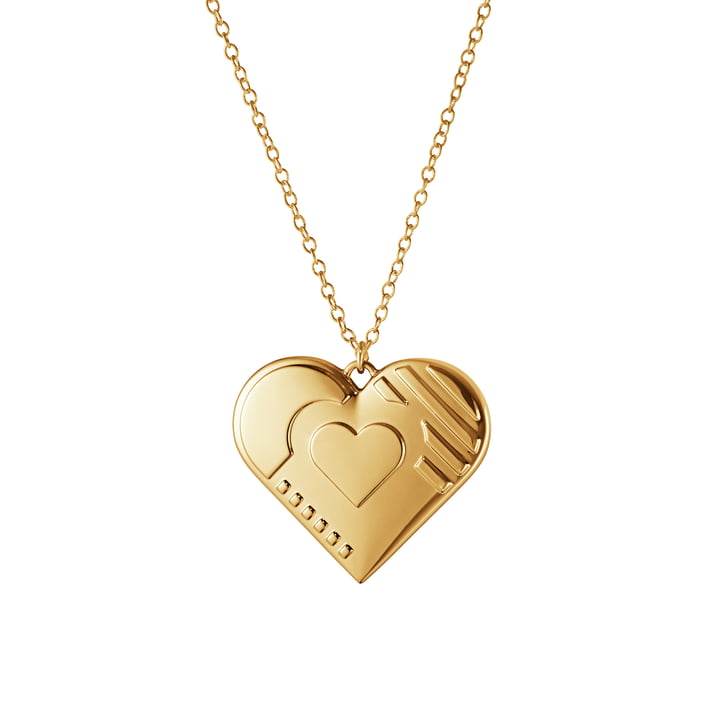 Ornament Pendant 2019 Heart, gold by Georg Jensen