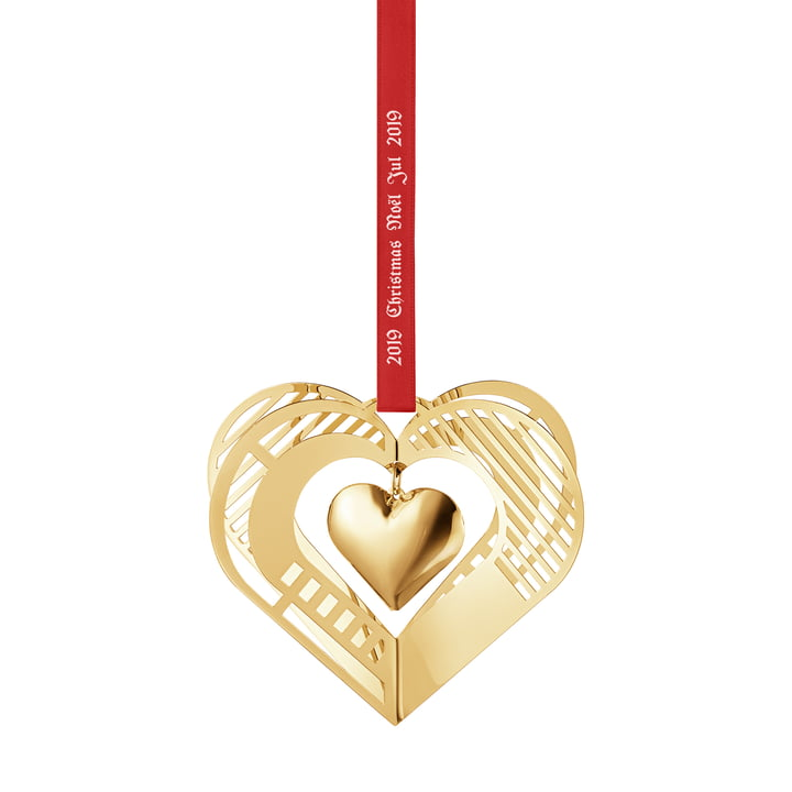Christmasmobile 2019 Heart, gold from Georg Jensen