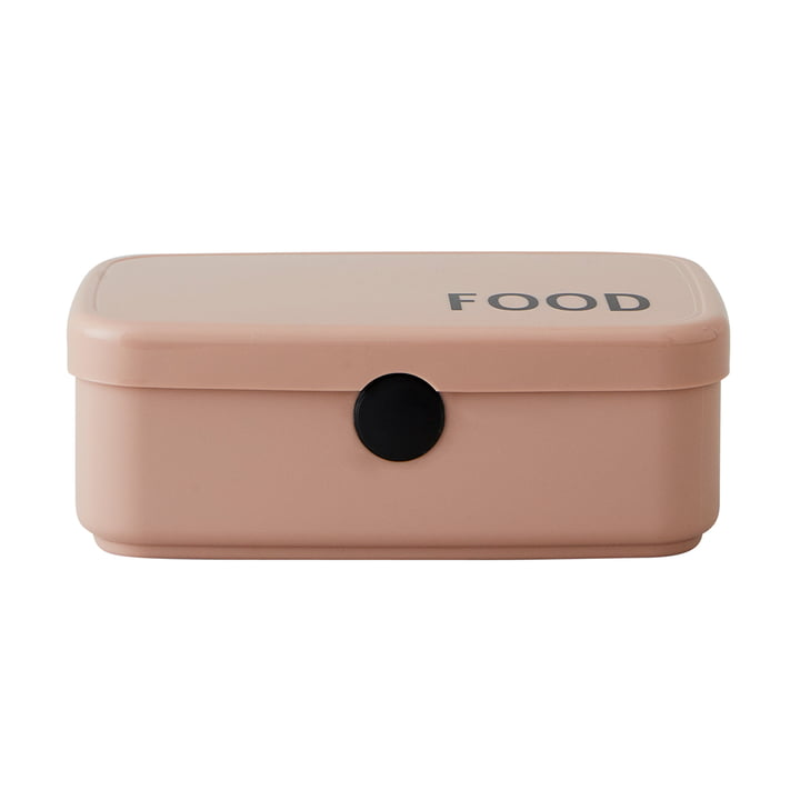 Food & Lunch box in nude by Design Letters