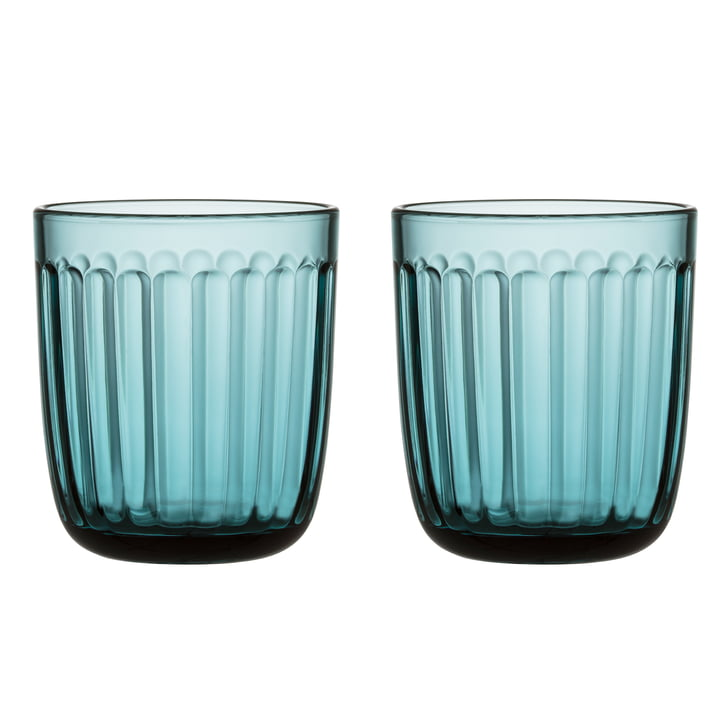 Raami drinking glass 26 cl (set of 2) from Iittala in sea blue