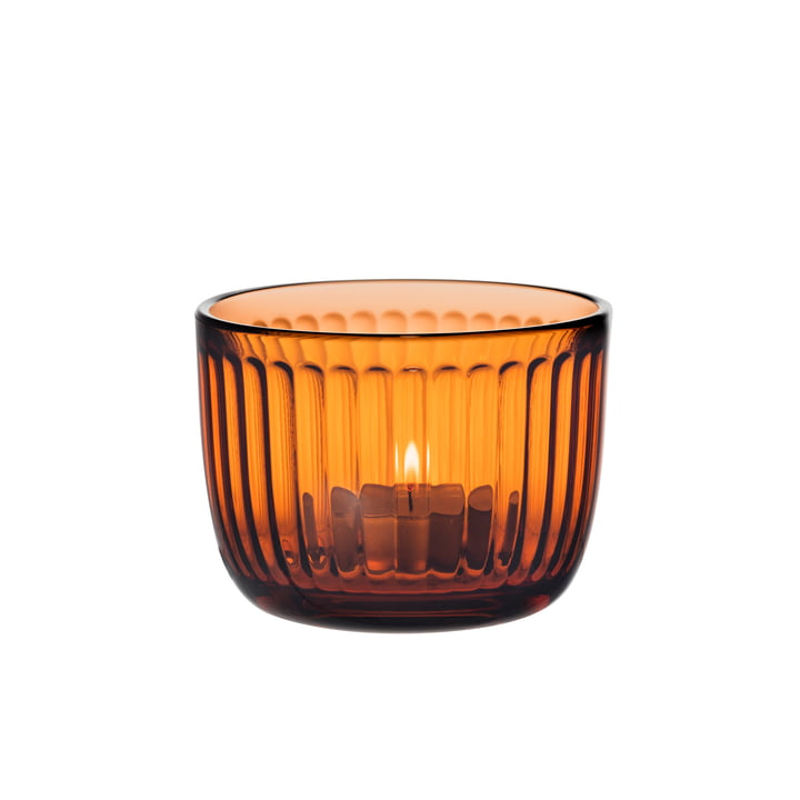 Raami tealight holder from Iittala in seville orange