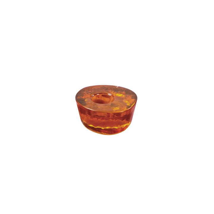 Atoll candle holder small from Pulpo in amber