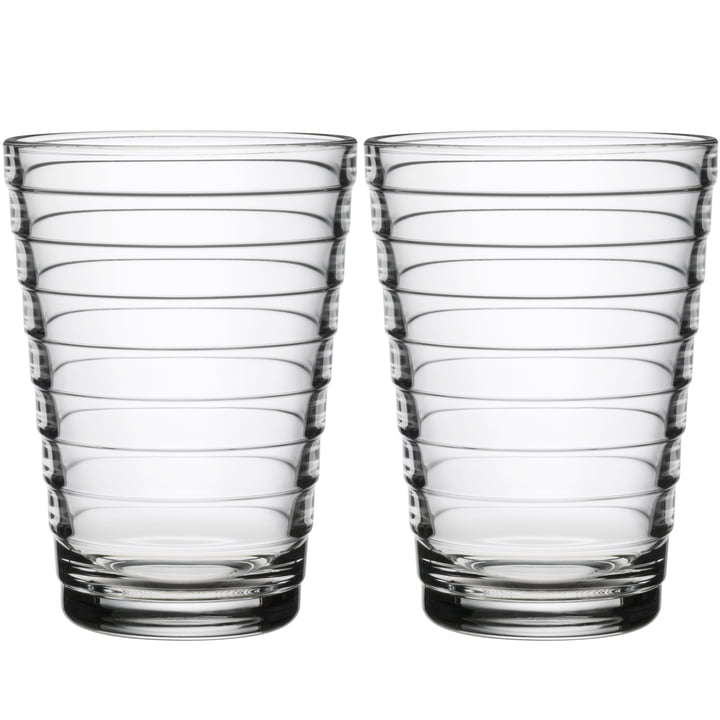 Aino Aalto Longdrink glass 33 cl from Iittala in clear (set of 2)