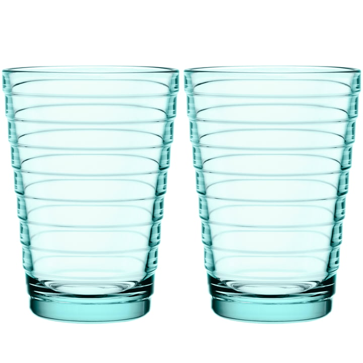 Aino Aalto Longdrink glass 33 cl from Iittala in water green (set of 2)