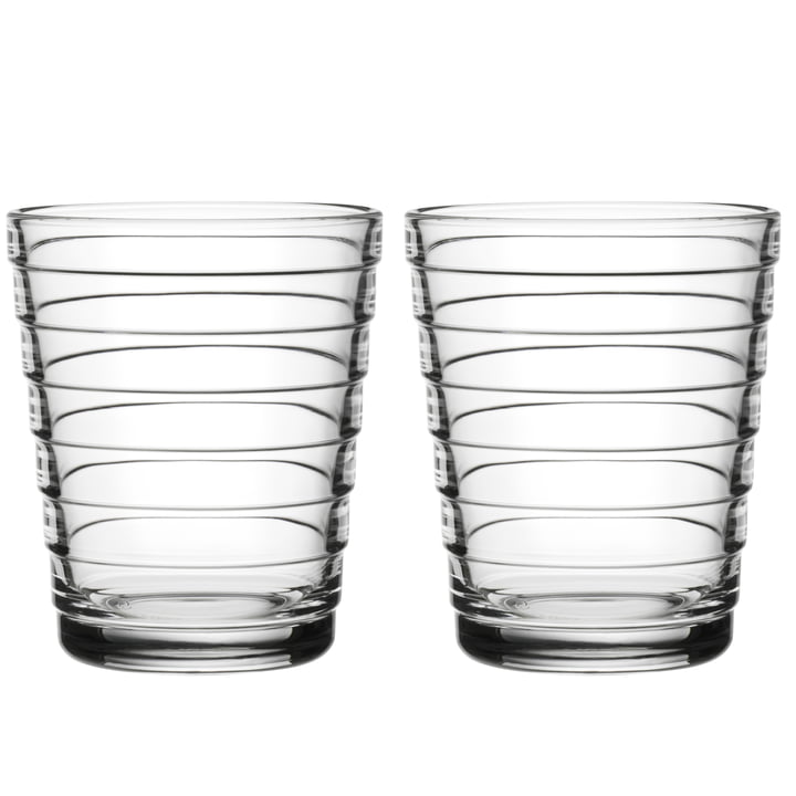Aino Aalto Glass tumbler 22 cl from Iittala in clear (set of 2)