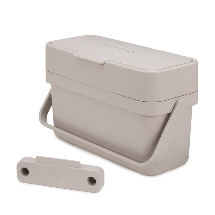 Compo 4 organic waste bin incl. holder by Joseph Joseph in grey