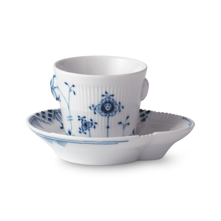 Elements Blue espresso cup with saucer 9 cl by Royal Copenhagen