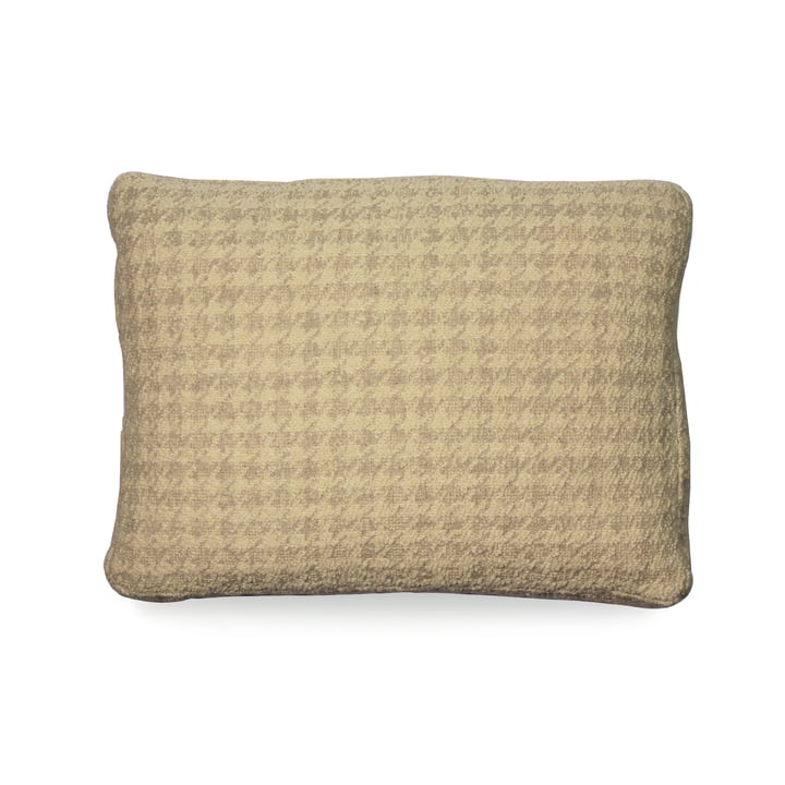 Cushion 48 x 35 cm from Kartell in houndstooth pattern / beige
