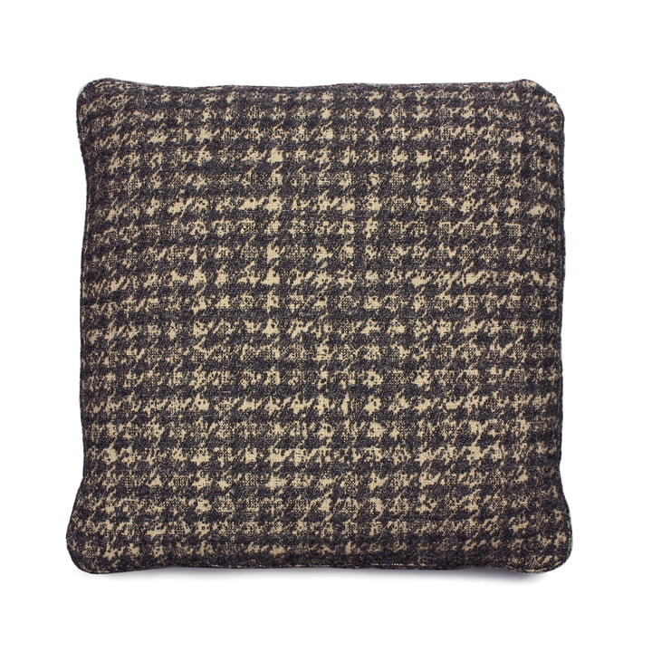 Cushion 48 x 48 cm from Kartell in dog-tooth pattern / grey