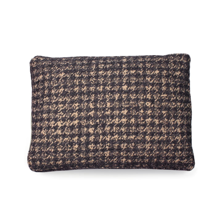 Cushion 48 x 35 cm from Kartell in dog-tooth pattern / grey