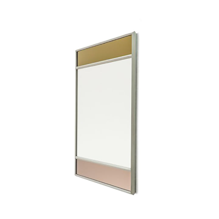 Vitrail wall mirror 50 x 50 cm from Magis in light grey / multicoloured