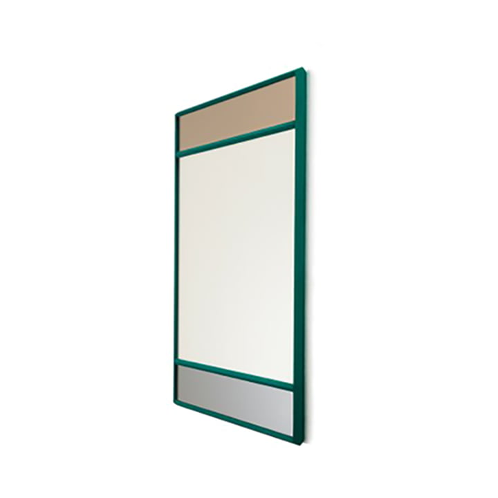 Vitrail wall mirror 50 x 50 cm from Magis in green / multicoloured