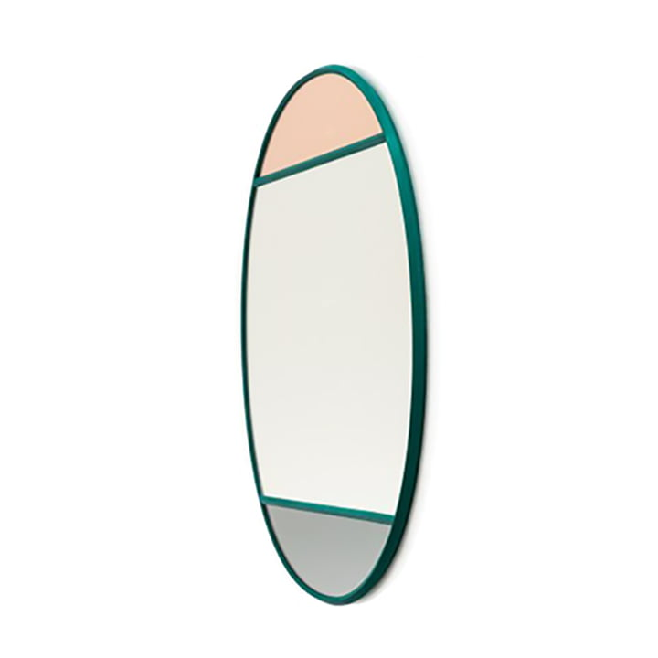 Vitrail wall mirror oval 50 x 60 cm from Magis in green / multicoloured
