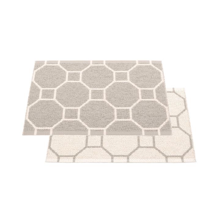 Doctor blade reversible carpet, 70 x 50 cm in warm grey / vanilla by Pappelina