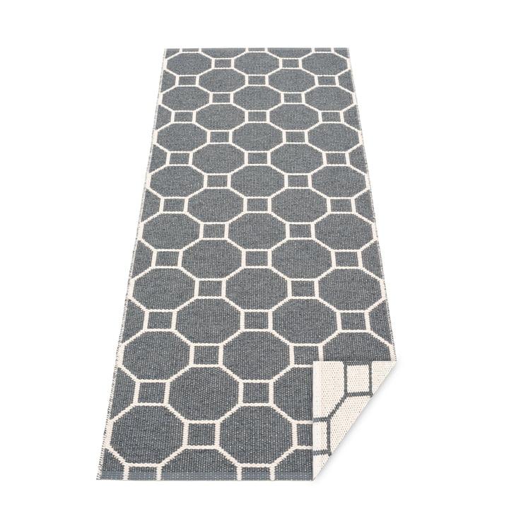 Squeegee reversible carpet, 70 x 225 cm in granite / vanilla by Pappelina