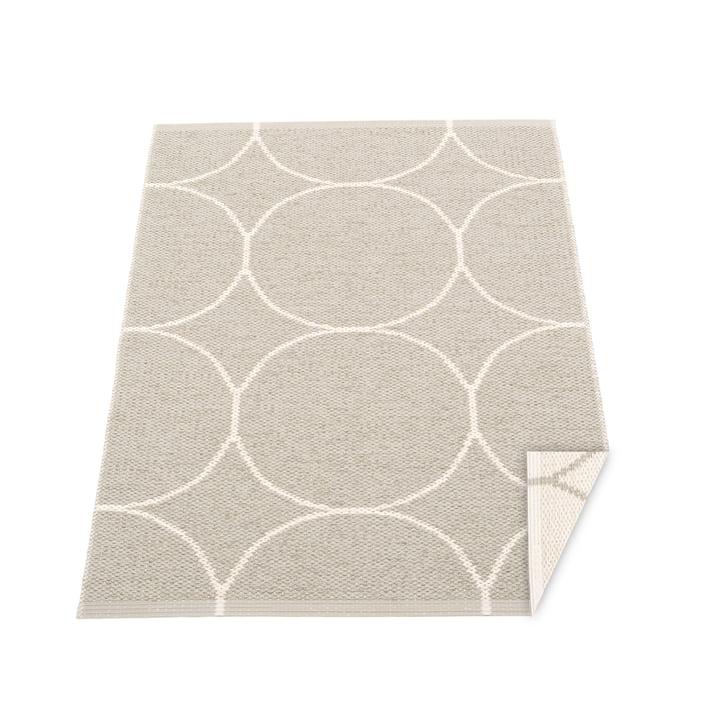 Boo reversible carpet, 70 x 100 cm in linen / vanilla by Pappelina