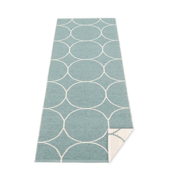 Boo reversible carpet, 70 x 200 cm in haze / vanilla by Pappelina
