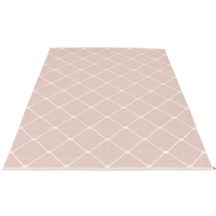 Regina reversible carpet, 180 x 275 cm in pale rose by Pappelina