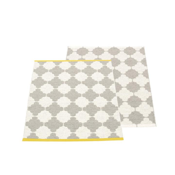Marre reversible carpet, 70 x 90 cm in warm grey / vanilla by Pappelina