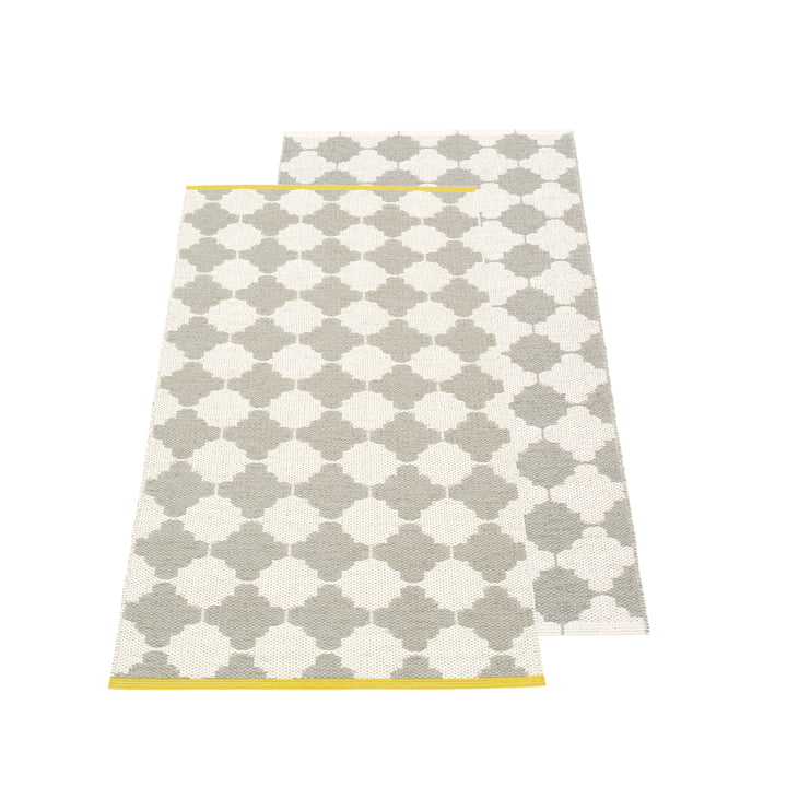 Marre reversible carpet, 70 x 150 cm in warm grey / vanilla by Pappelina