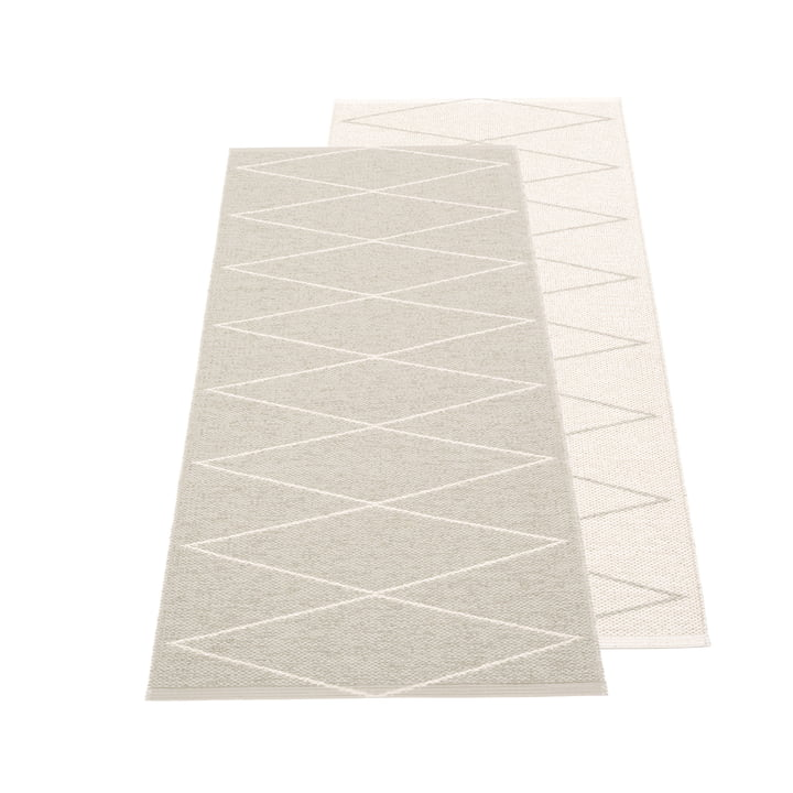 Max reversible carpet, 70 x 160 cm in linen / vanilla by Pappelina