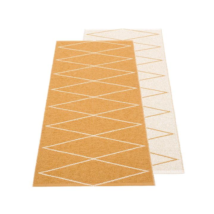Max reversible carpet, 70 x 160 cm in ochre / vanilla by Pappelina