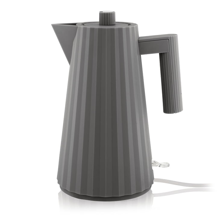 Plissé kettle 1,7 l from Alessi in grey