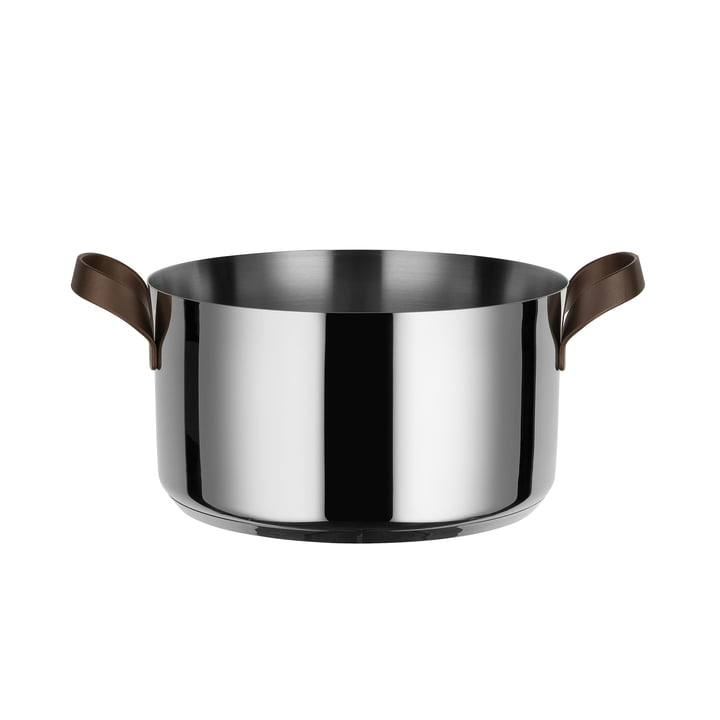 Edo casserole with two handles Ø 20 cm from Alessi in stainless steel