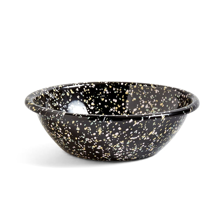 Emaille Bowl Ø 20 cm from Hay in black speckled