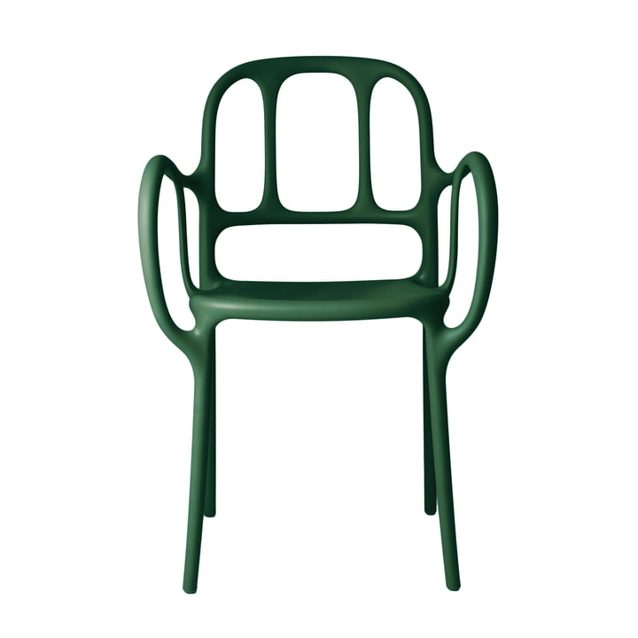 Milà chair by Magis in dark green