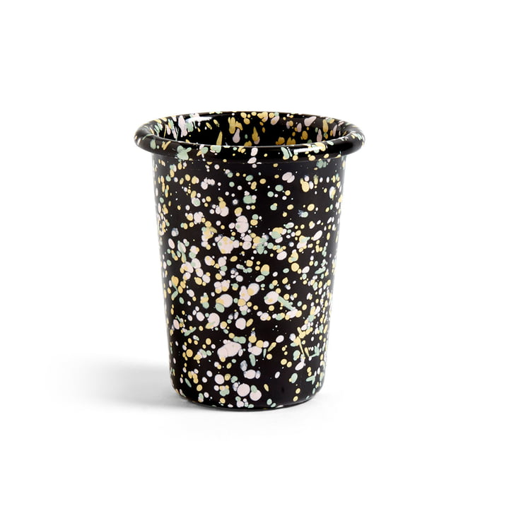 Emaille Mug from Hay in black speckled