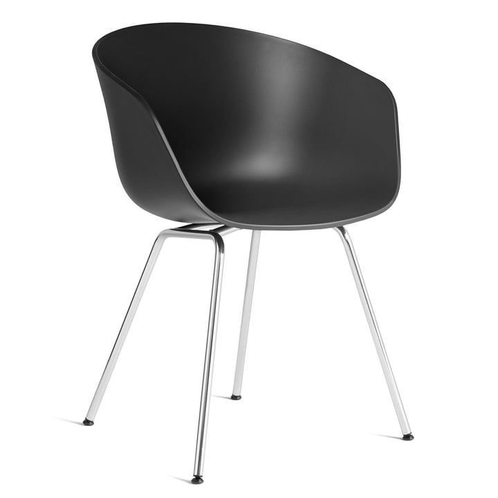 About A Chair AAC 26 by Hay in chrome / soft black