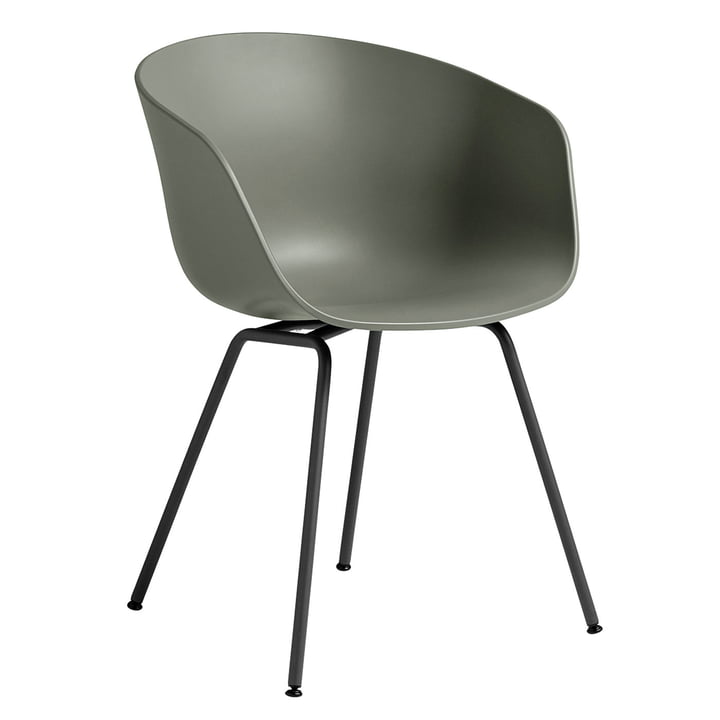 About A Chair AAC 26 by Hay in steel black / dusty green