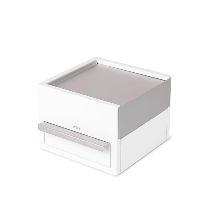 Stowit Mini jewellery box from Umbra in beech white / light grey