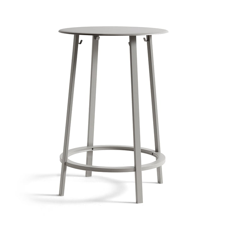 Eevolver high table Ø 70 x H 105 cm from Hay in sky grey