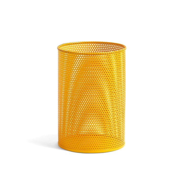 Perforated Bin M Ø 25 x H 36 cm from Hay in yellow