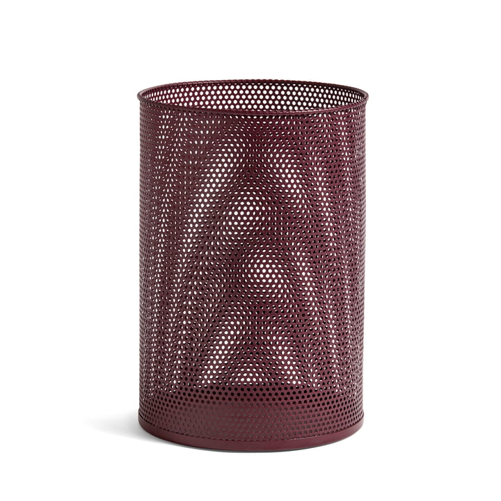Perforated Bin L, Ø 30,5 x H 44 cm from Hay in burgundy