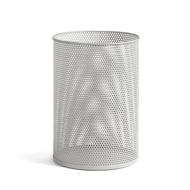 Perforated Bin L, Ø 30,5 x H 44 cm from Hay in light grey