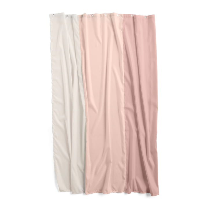 Watercolour shower curtain 200 x 180 cm by Hay in vertical rose