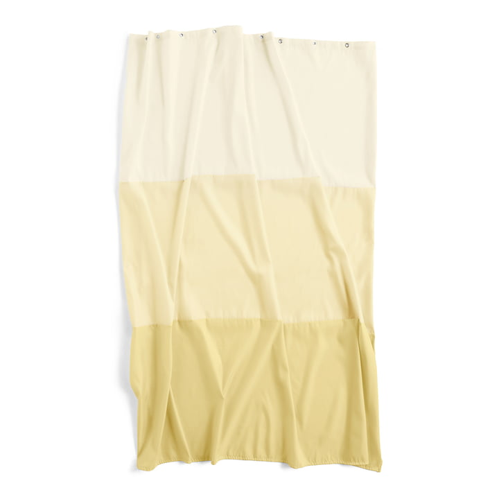 Watercolor shower curtain 200 x 180 cm by Hay in horizontal buttercup
