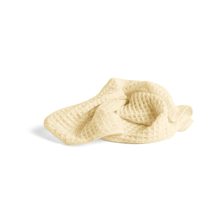 Giant waffle towel 100 x 50 cm from Hay in soft yellow