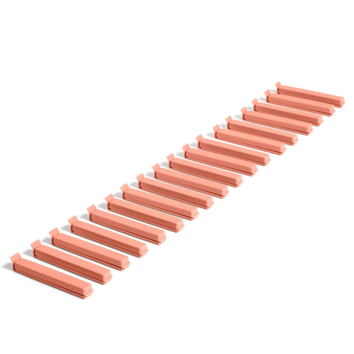 Paquet Clip (18 pcs.) by Hay in coral