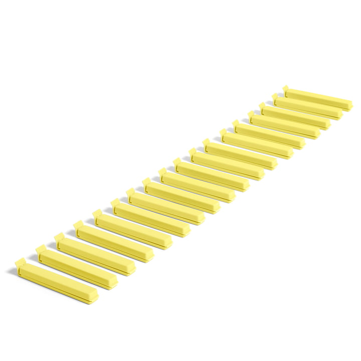 Paquet Clip (18 pcs.) by Hay in yellow