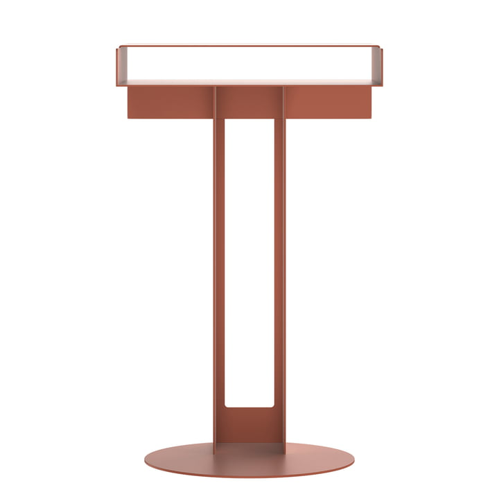 Meta side table from New Tendency in sienna